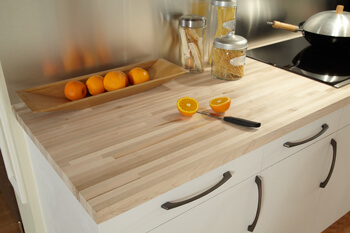 In or Out? Butcher Block Countertop & Quartz Countertop