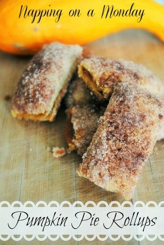 pumpkin pie roll-ups
