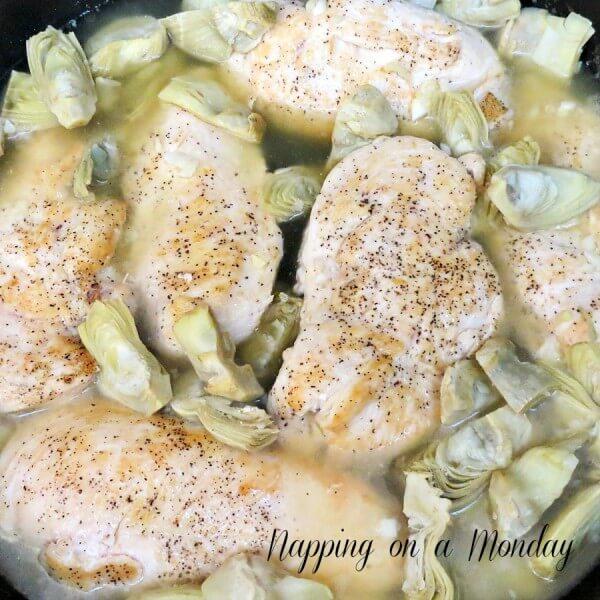 Artichokes and Lemon Chicken Recipe | Atlanta Blogger