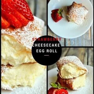 strawberry cheesecake egg rolls
