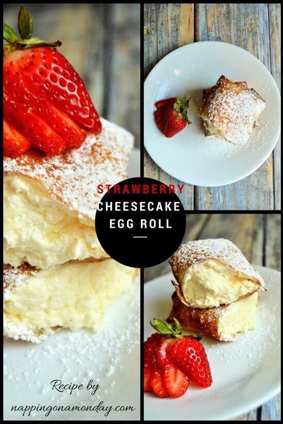 strawberry cheesecake egg rolls | Atlanta Blogger