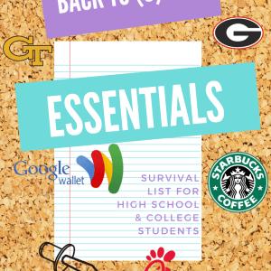 Back to School Essentials