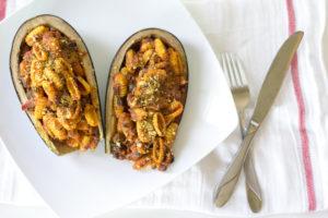 VEGAN-pasta-PARMESAN-STUFFED-EGGPLANT-atlanta-blogger-29